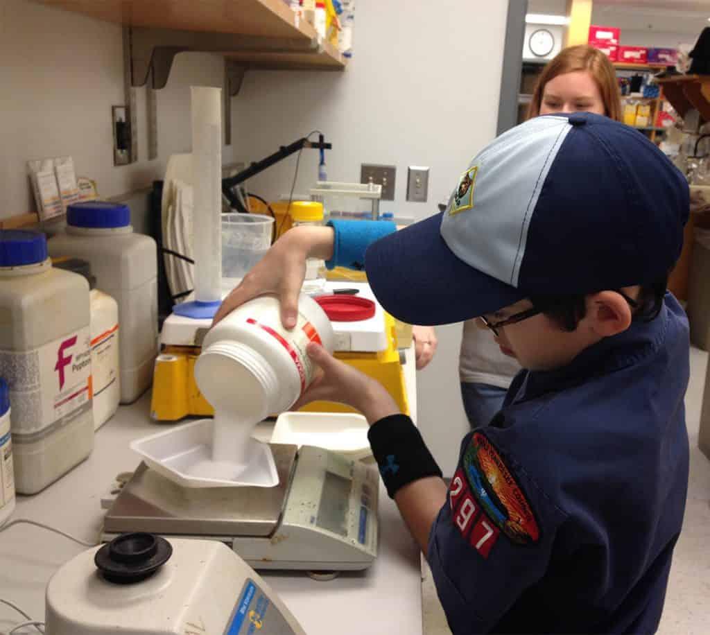 cub scout visits lab