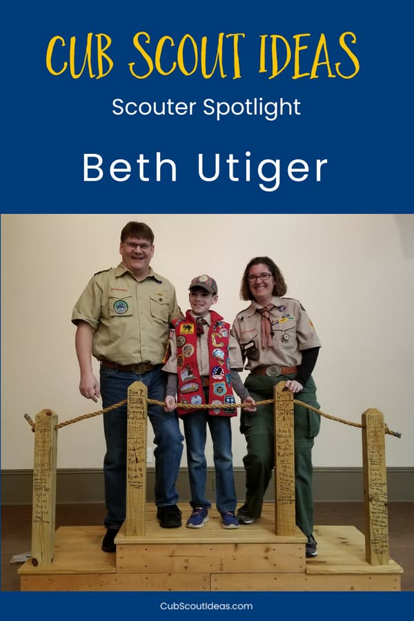 Cub Scout Ideas Scouter Spotlight on Beth Utiger