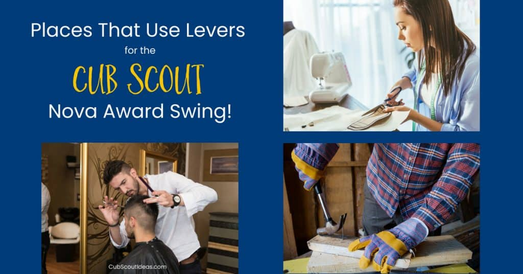 Cub Scout Nova Swing Places that use levers