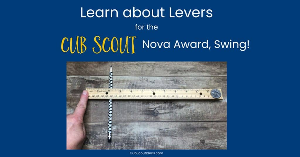 Cub Scout Nova Swing Requirement 3 Levers f