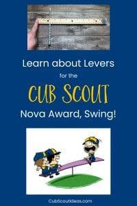 Cub Scout Nova Swing Requirement 3 Levers p