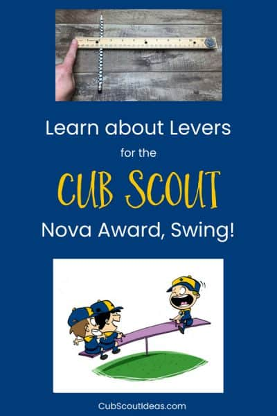 Cub Scouts Learn About Levers for Nova Award, Swing!