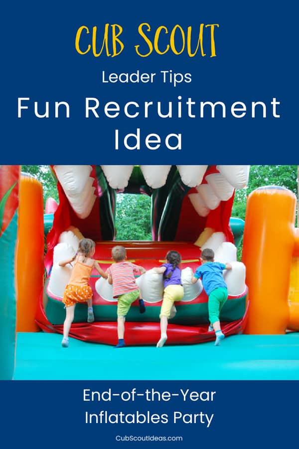 This fun Cub Scout recruitment activity idea will have the kids talking about Cub Scouts all summer! #CubScouts #CubScout #Scouting #Webelos #CubScoutRecruiting #CubScoutRecruitment #BeAScout