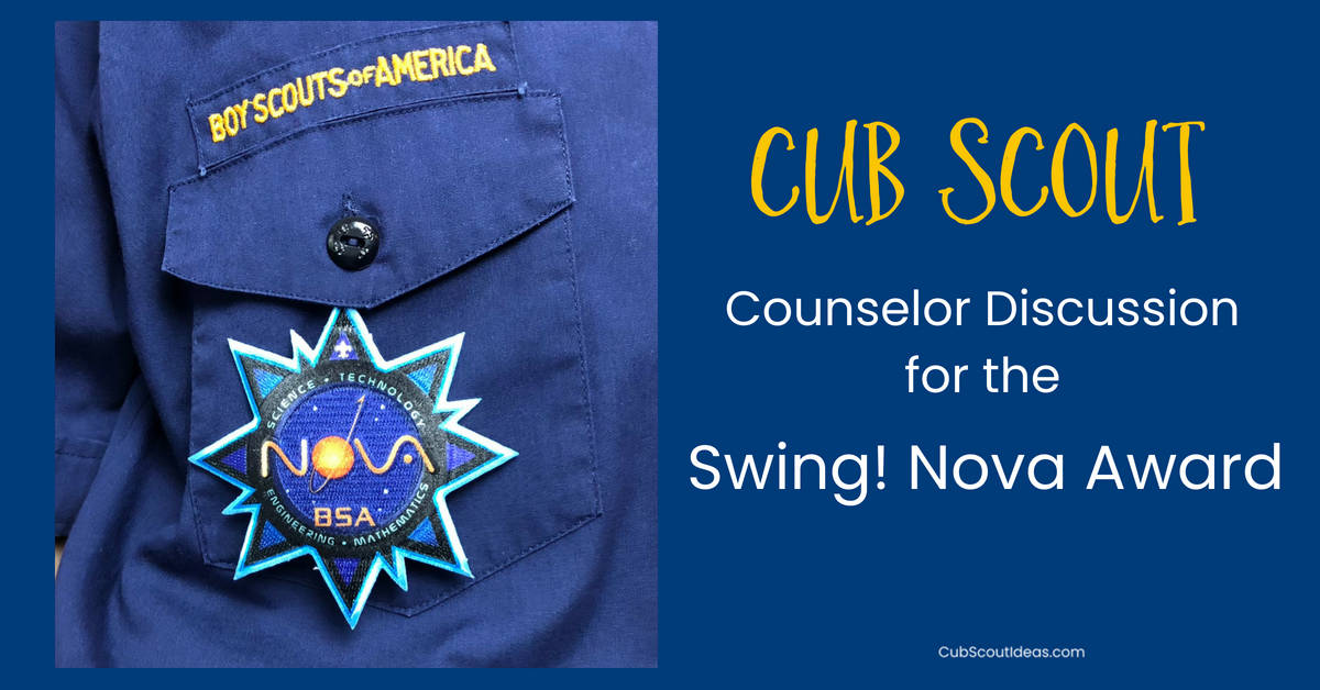 counselor discussion for cub scout swing nova