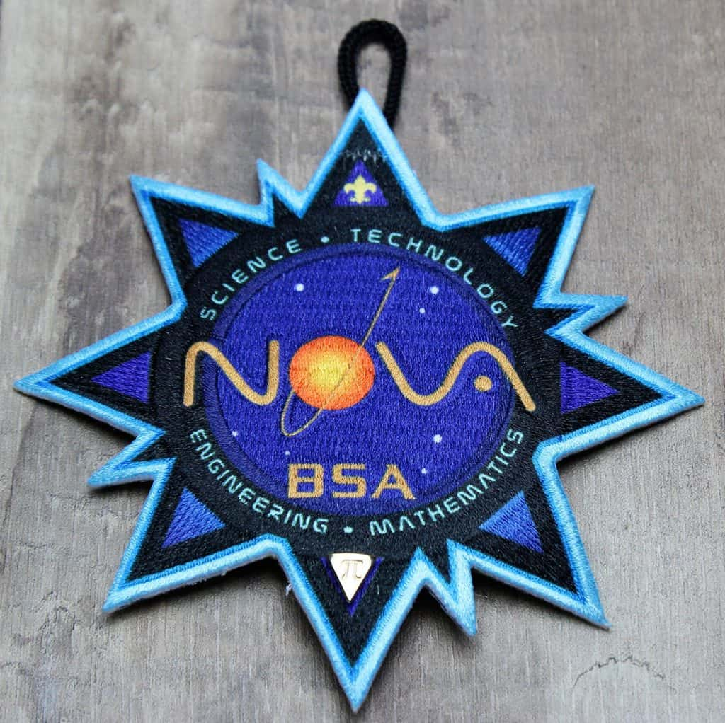 cub scout nova patch with pin