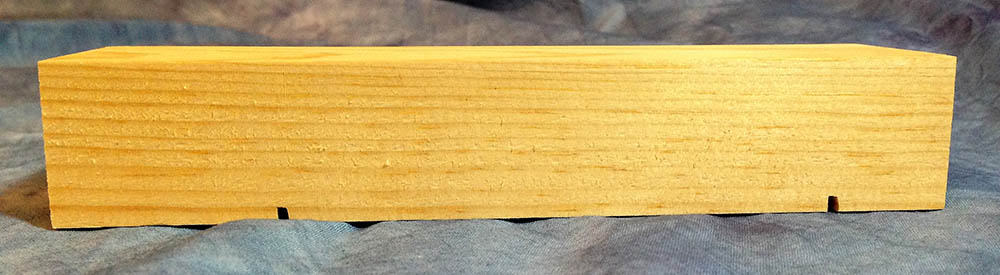 pinewood derby wooden block