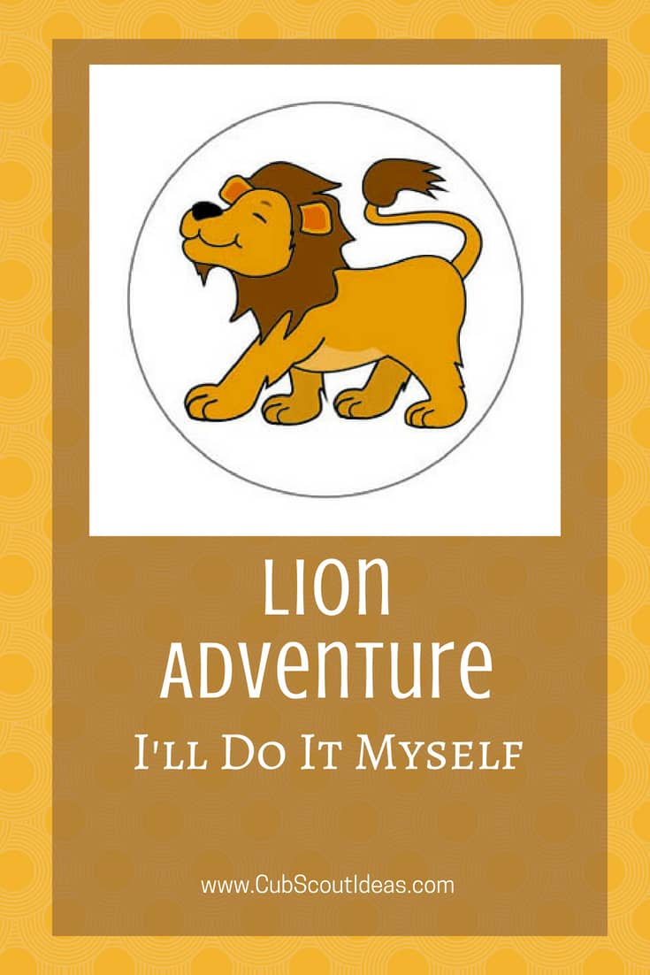 Cub Scout Lion I'll Do It Myself