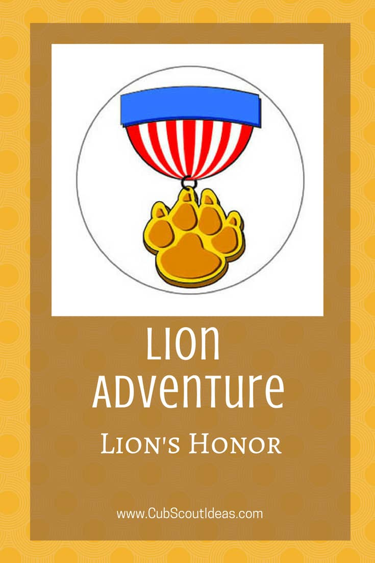 Cub Scout Lion Lion's Honor