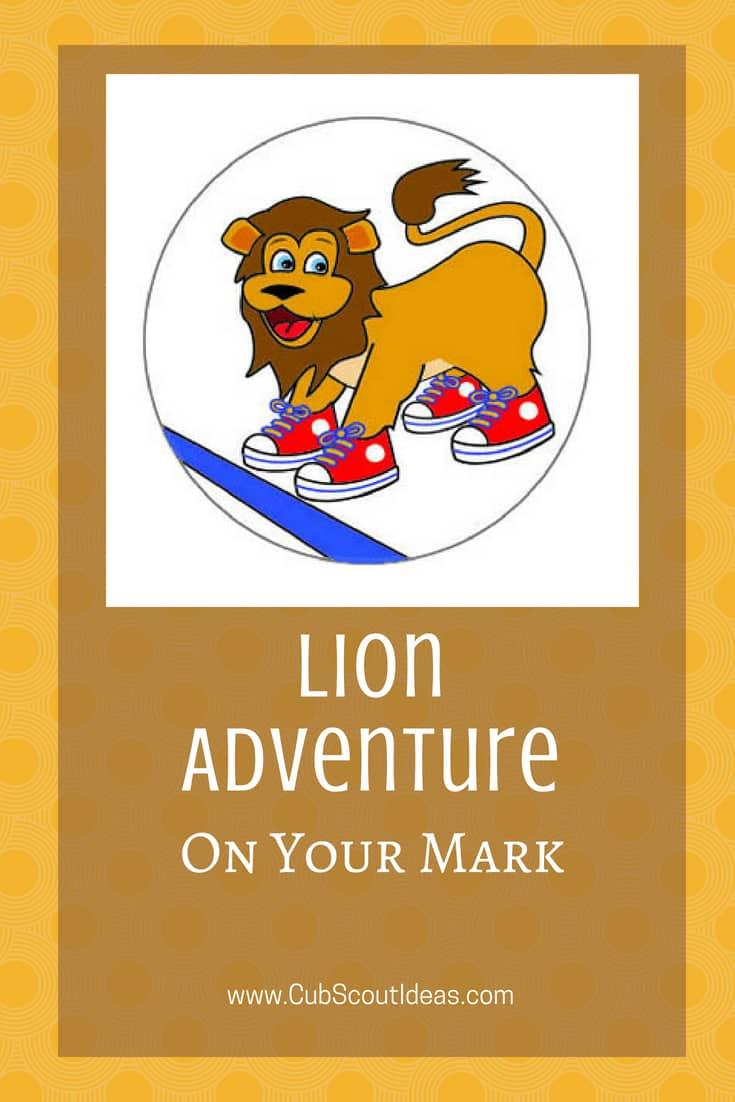 Cub Scout Lion On Your Mark