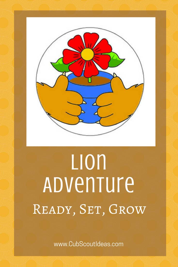 Cub Scout Lion Ready Set Grow