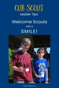 Cub Scout welcome with a smile