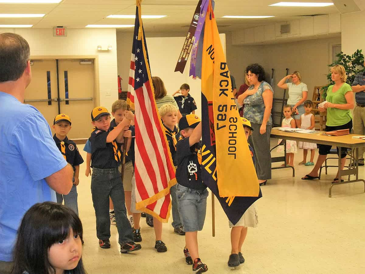 cub scout opening flag ceremony