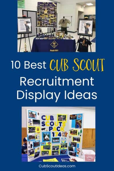 Cub Scout recruitment displays