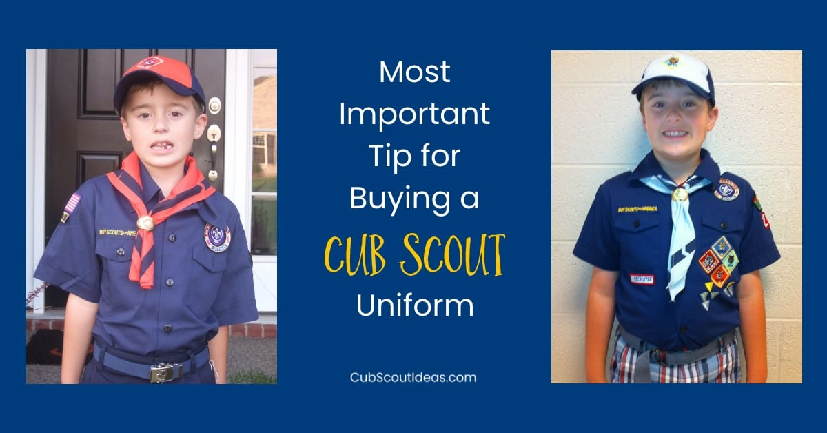 Cub Scout uniform buying tip