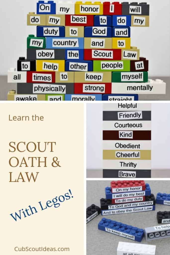 Scout oath and law using legos