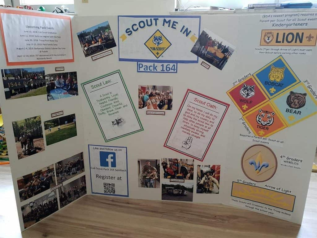 Scout Me In Cub Scout display