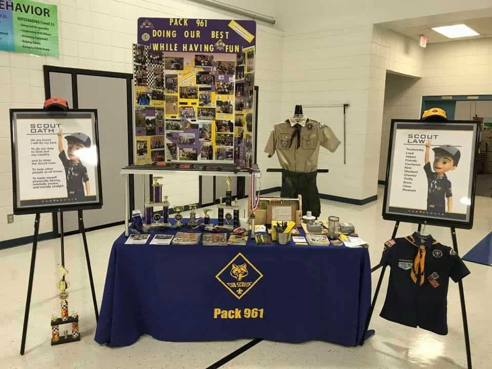 Great Cub Scout recruitment exhibit