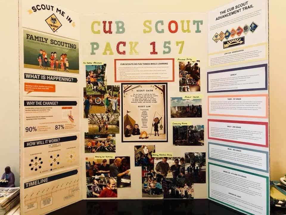 Family Scouting in Cub Scout display