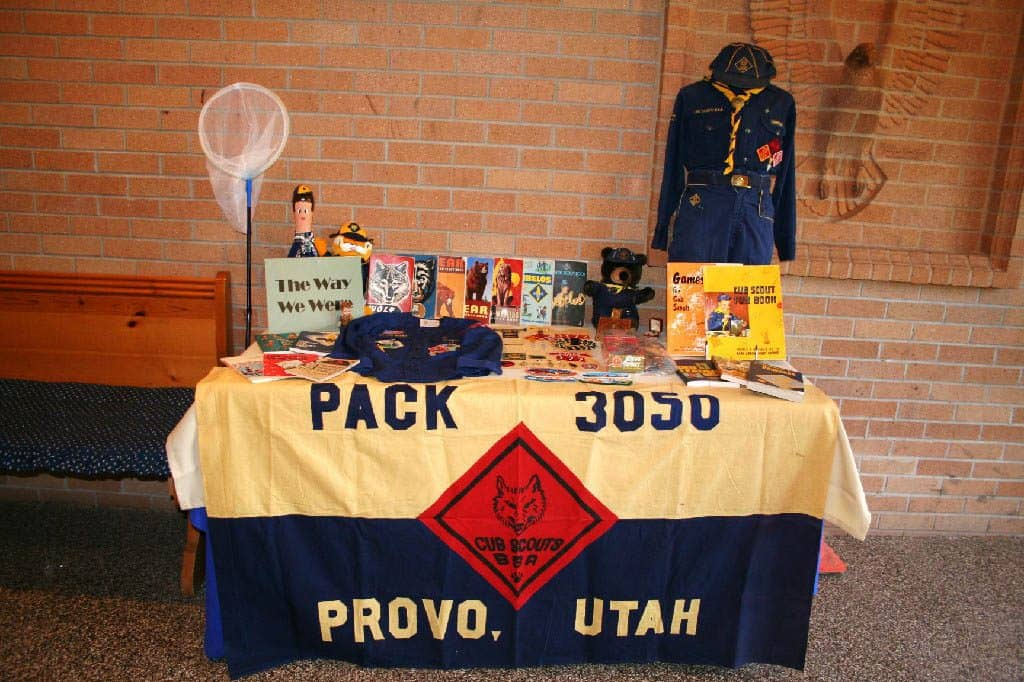 Historical Cub Scout display