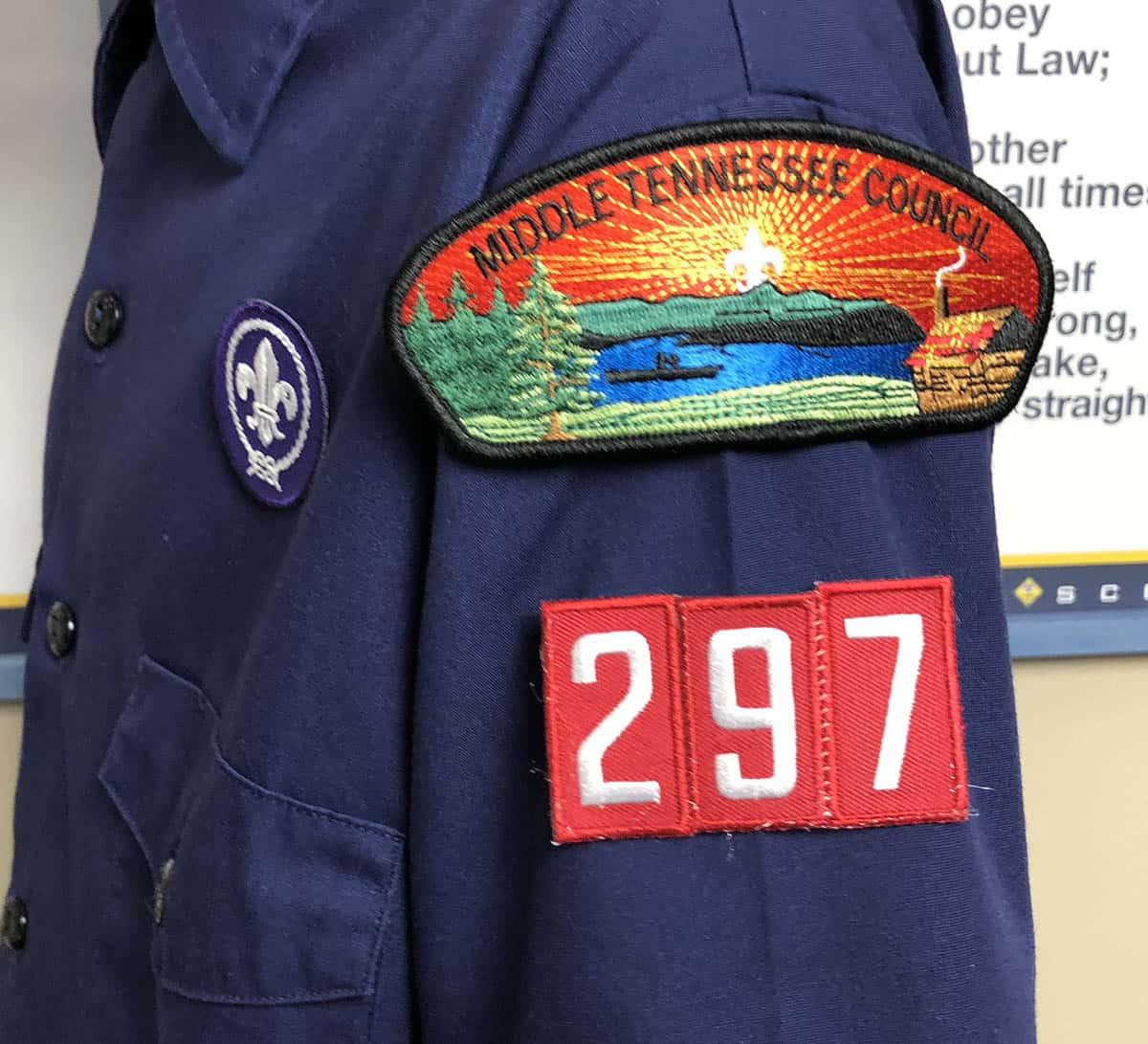 cub scout unit number on uniform