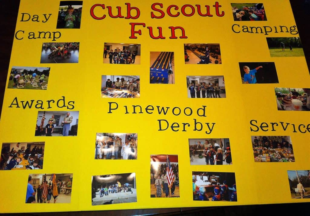 papan display Cub Scout saya