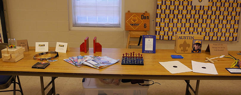 Cub Scout projects on display