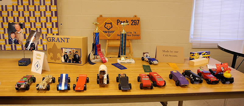 Pinewood Derby Car Display
