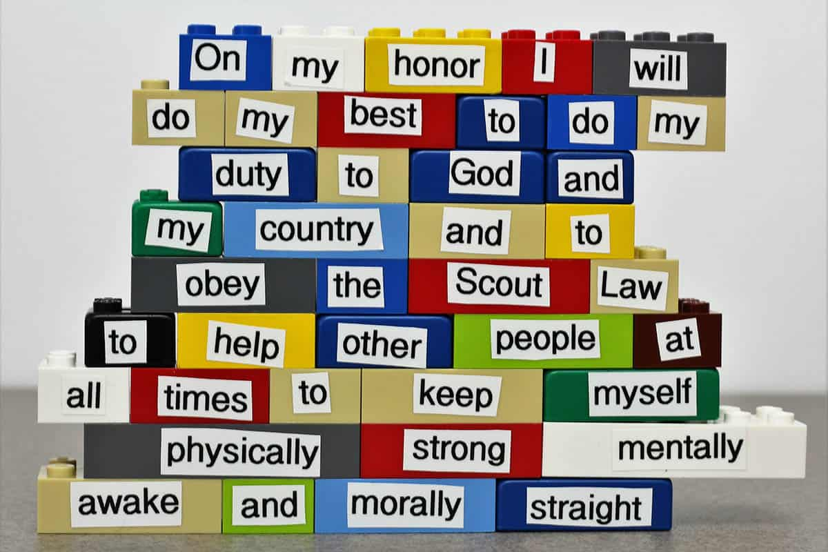 scout oath and law legos