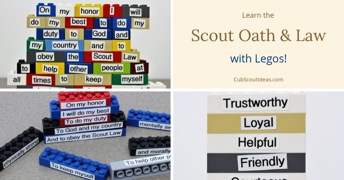 scout oath and law with legos