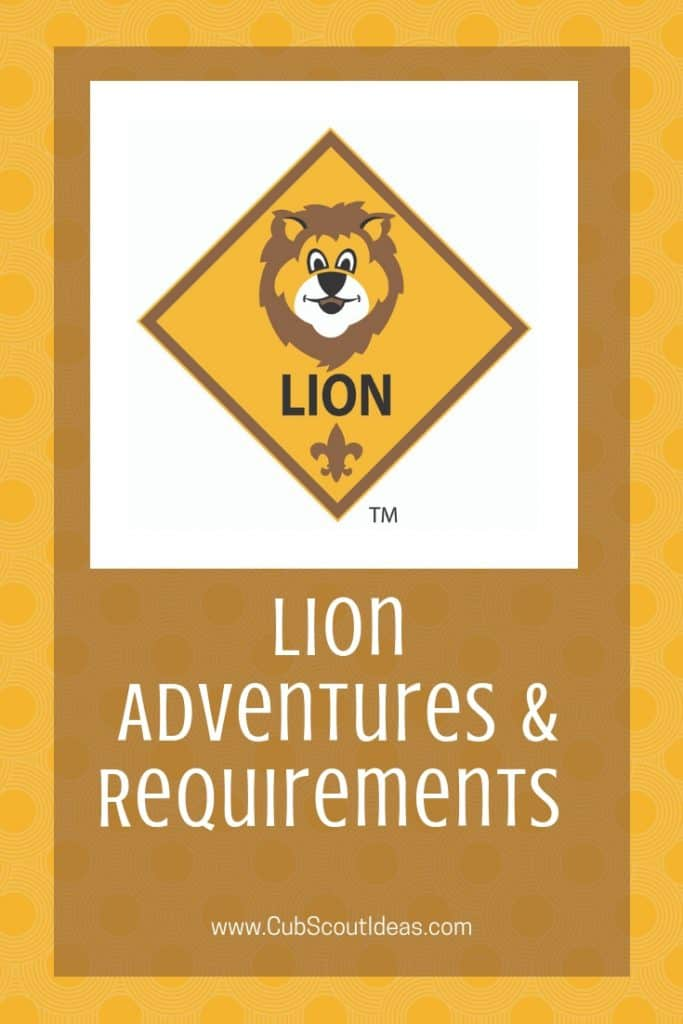 lion cub scout requirements and adventures