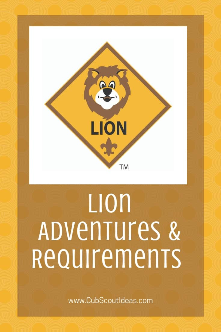 Lion Cub Scout Adventure Requirements
