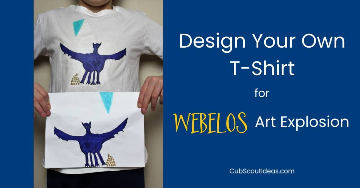 webelos arrow of light art explosion t-shirt design