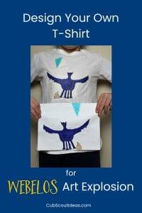 webelos arrow of light art explosion t-shirt design