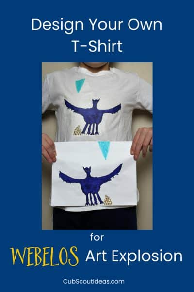 How to Easily Make Your Shirt for Webelos Art Explosion