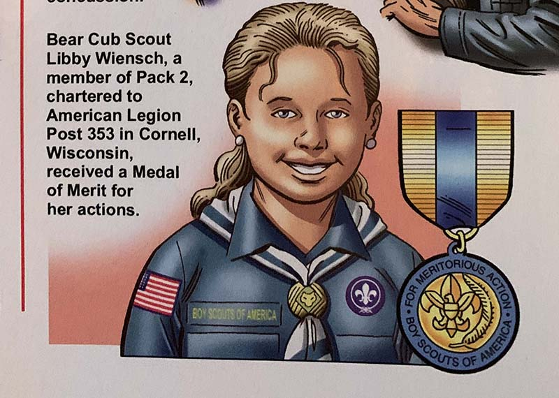 bear scout act of heroism