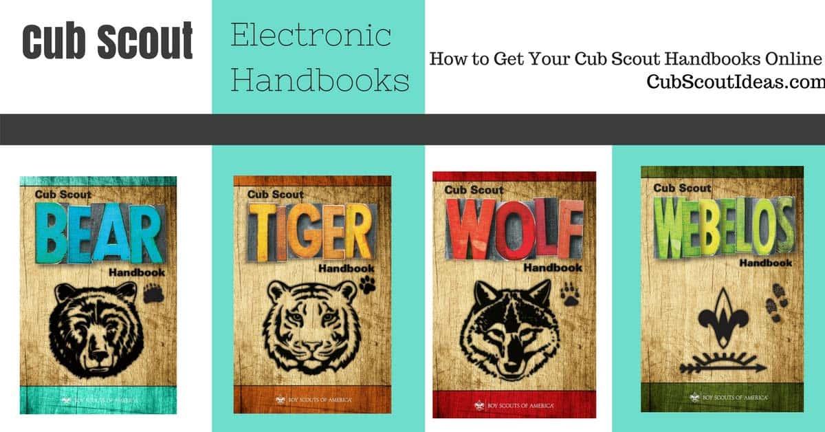 cub scout electronic handbooks
