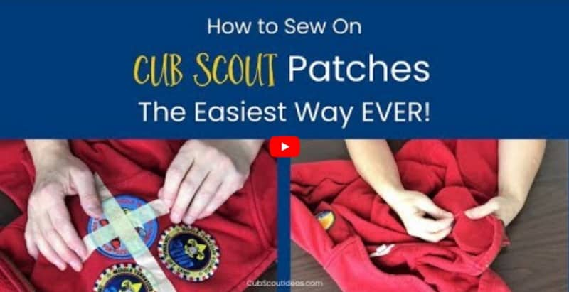 easy way to sew on cub scout patches video cover