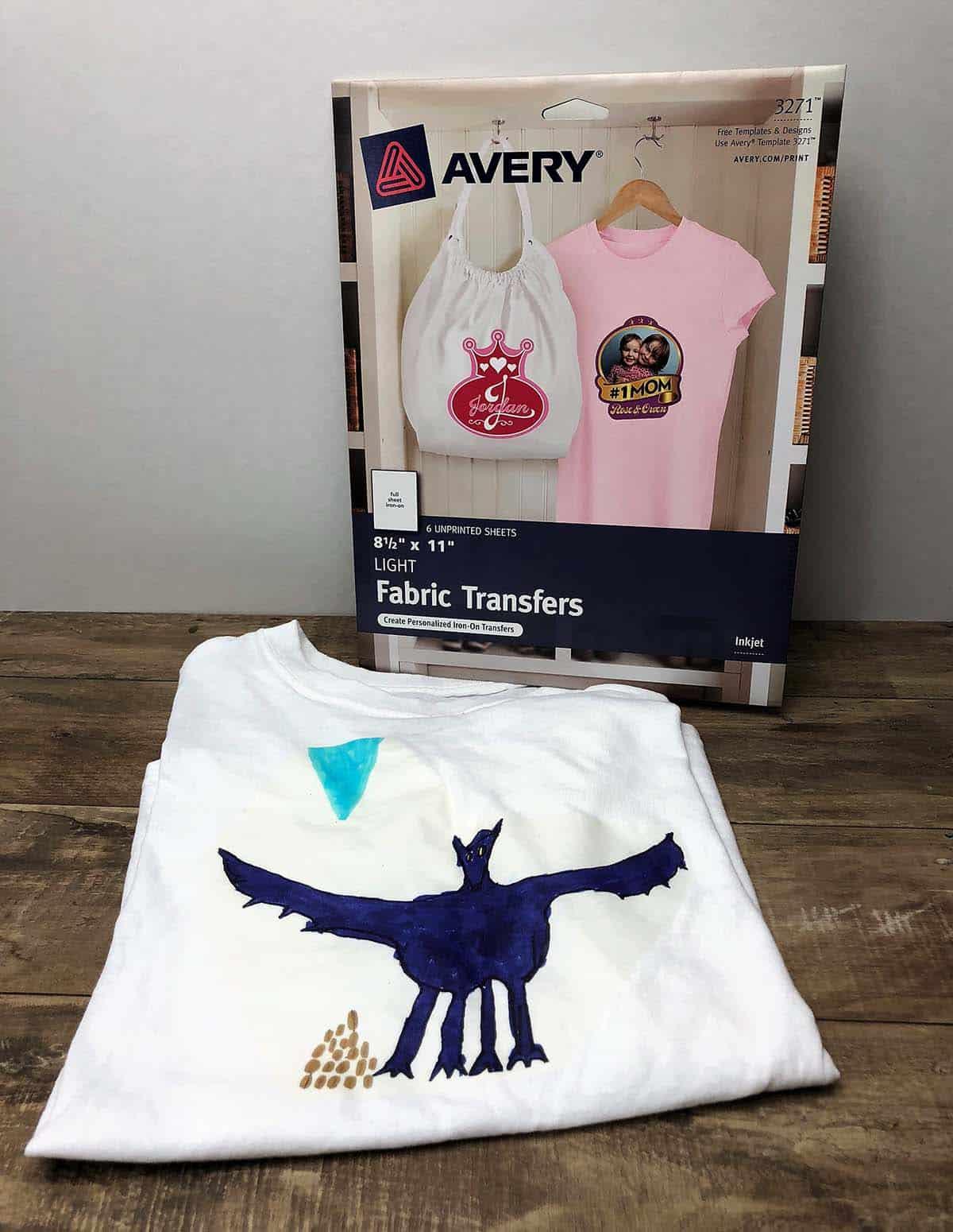 fabric transfer tshirt webelos art explosion