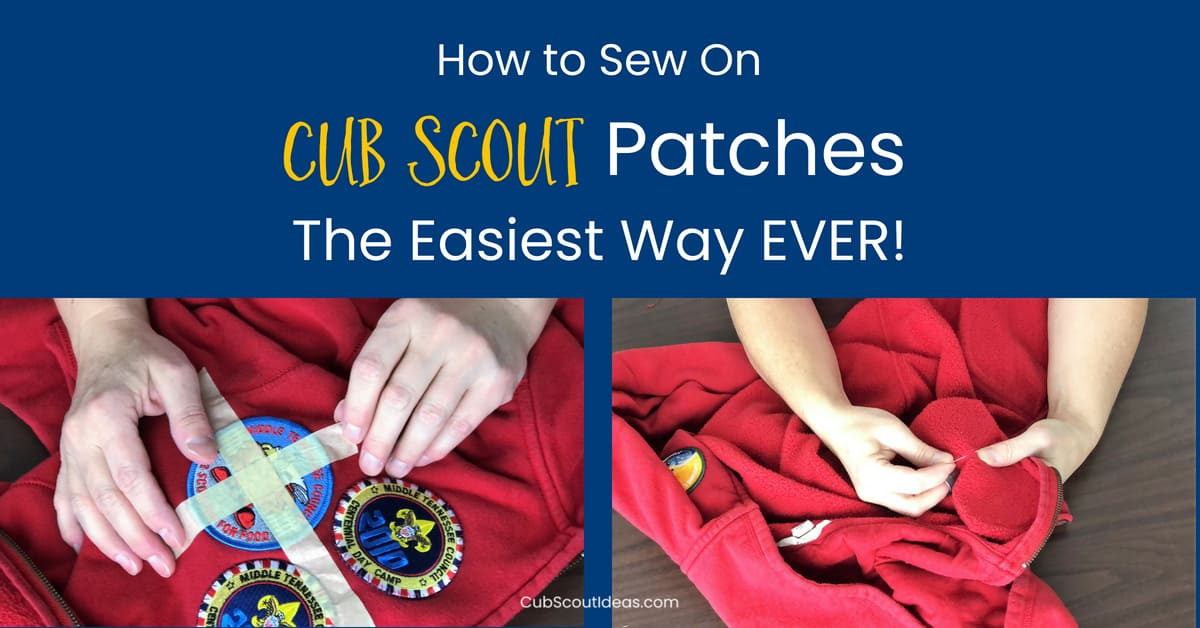 sew cub scout patches