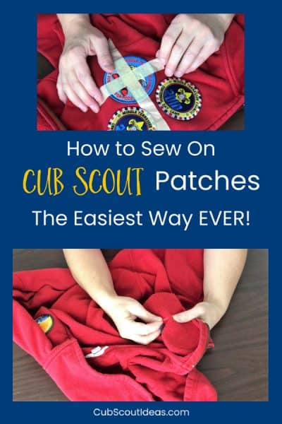 How to Sew on Cub Scout Patches the Easy Way