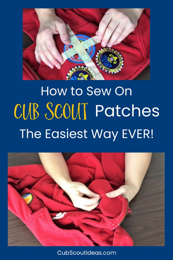 How to Sew on Cub Scout Patches the Easy Way | Cub Scout Ideas