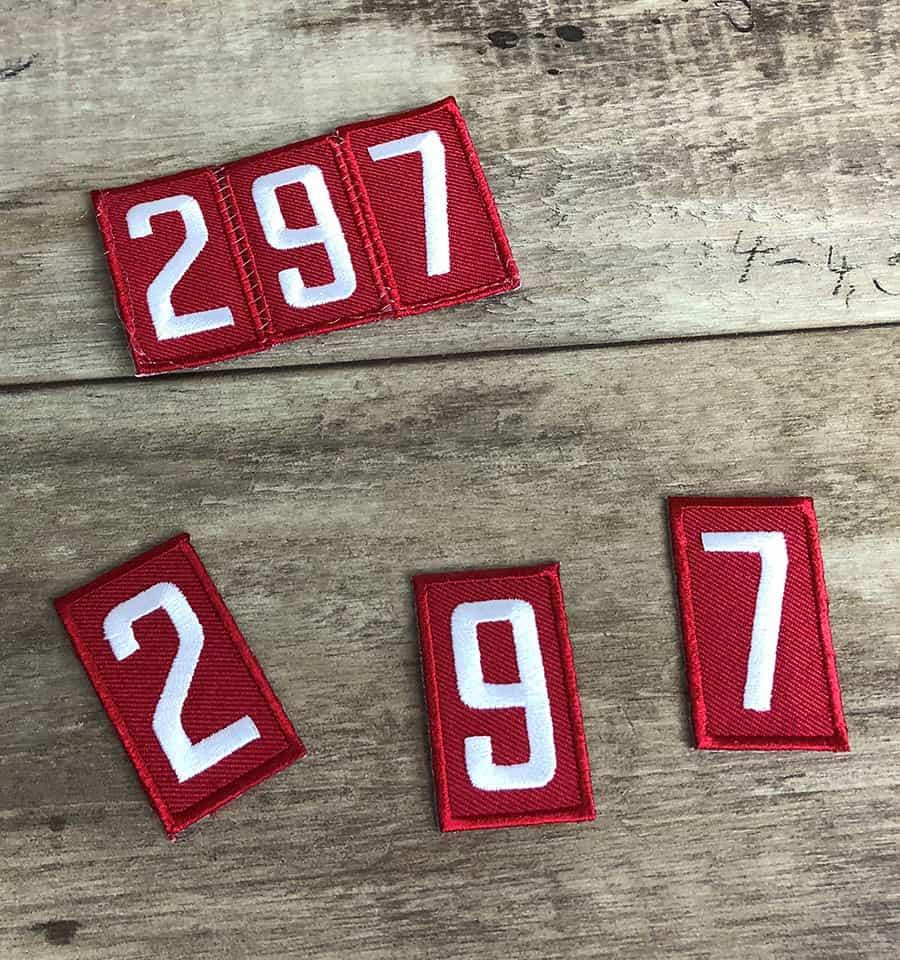 sew pack number together