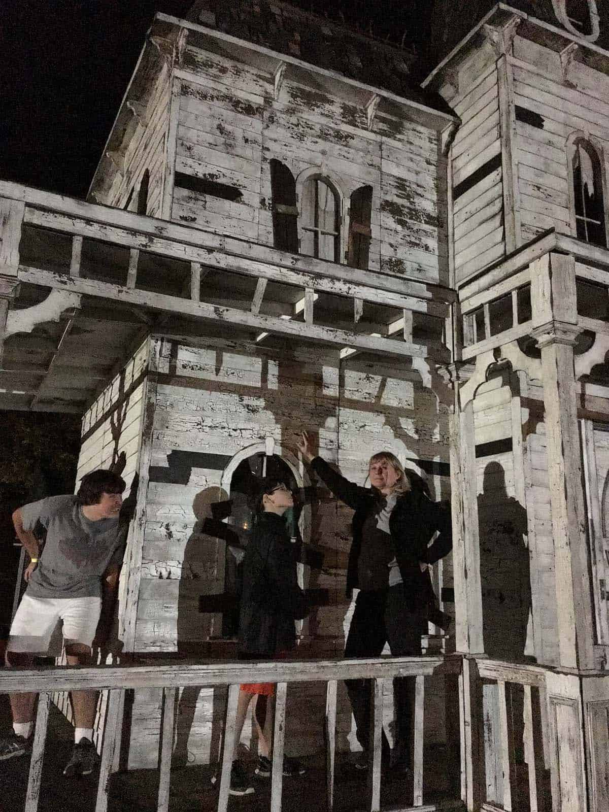 visiting the haunted house