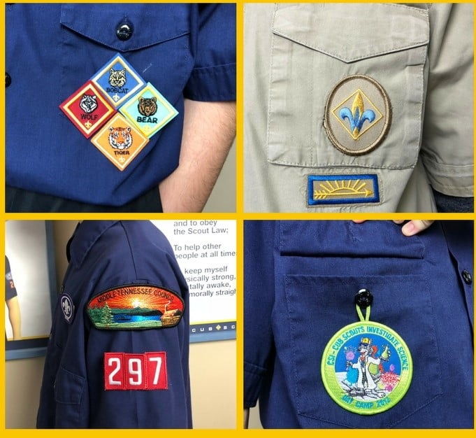cub scout patch placement