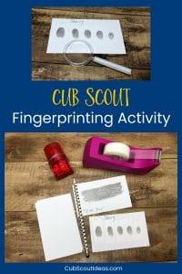 Cub Scout fingerprinting activity