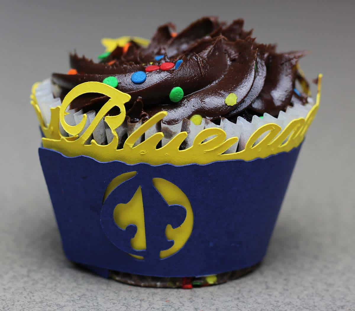 Cub Scout cupcake wrapper made with Cricut
