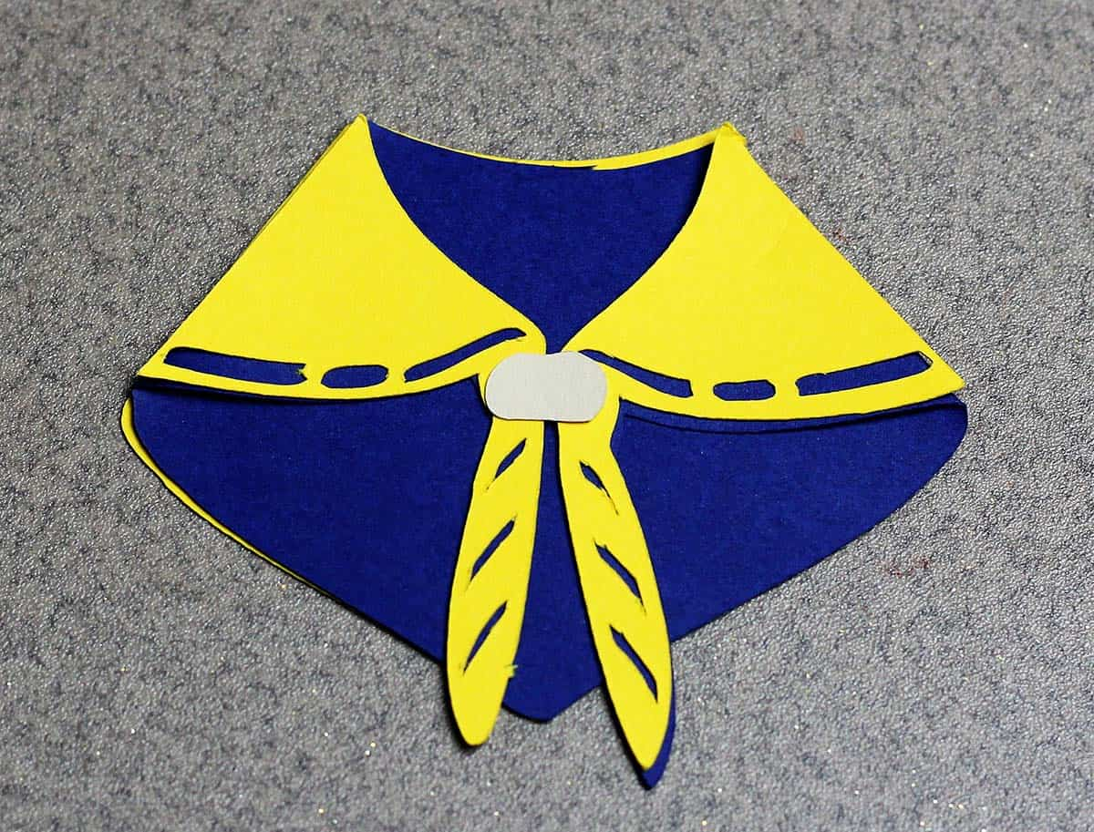 Cub Scout neckerchief made with Cricut