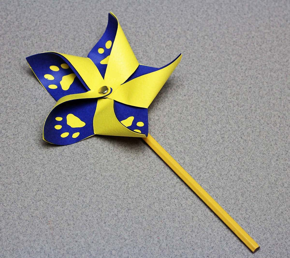 Cub Scout pinwheel made with Cricut