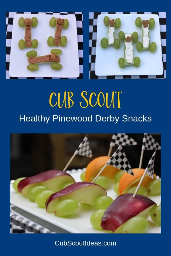 Cub Scout Healthy Pinewood Derby Snacks