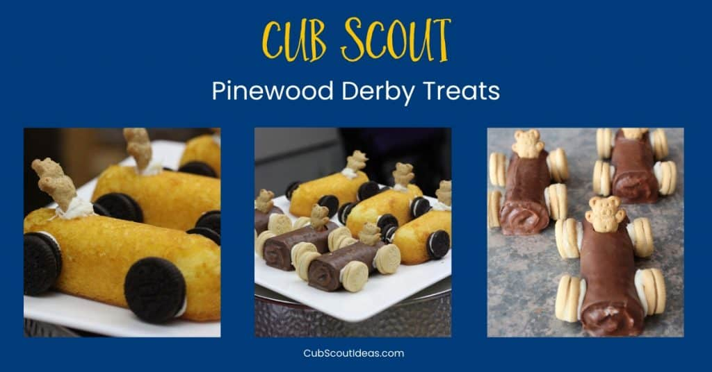 Pinewood Derby Treats for Cub Scouts